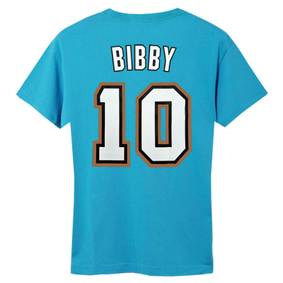 M&N NBA Vancouver Grizzlies Name & Number Hardwood Classics Edition Tee | Mike Bibby