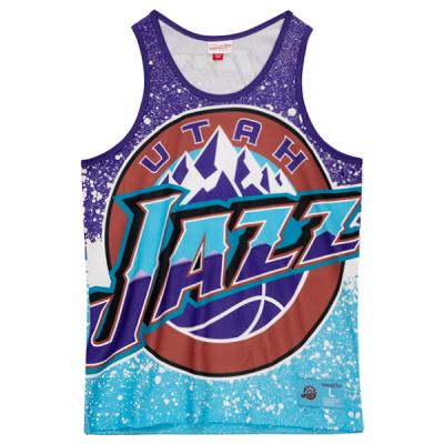 Mitchell and Ness Jumbotron Sublimated Tank   Utah Jazz