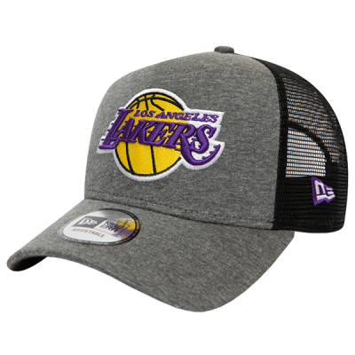 New Era LA Lakers Jersey Essential A-Frame Trucker Cap | 9FORTY