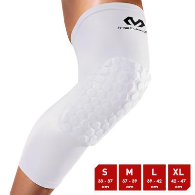 McDavid Hexforce HexPad Extended Leg White Sleeves