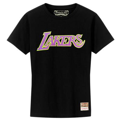 Mitchell and Ness NBA Neon Logo Black Tee | LA Lakers