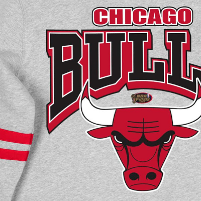 Mitchell and Ness All Over Print Fleece Crew Sweater | Chicago Bulls