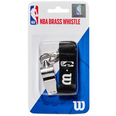 Wilson NBA Brass Whistle With Lanyard