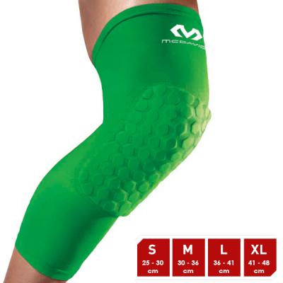 McDavid Hexforce HexPad Extended Leg Brazil Green Sleeves