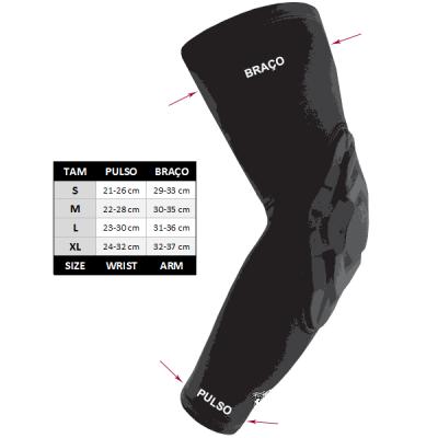 adidas GFX Padded Elbow Shooting Sleeve BK
